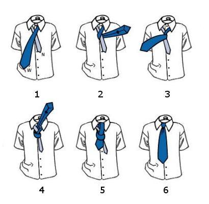 Как завязать галстук схема в
