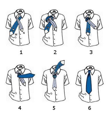 Как завязать галстук схема с